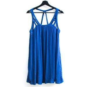 Love Riche | Blue Strappy Flowy Tent Dress
